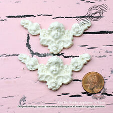 "Shabby Chic Furniture Appliques, Scrapbooking ""Cherub Crest(Set of 2)"""