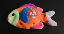 TY BEANIE BABIES TROPICAL FISH LIPS POLKA-DOT BEAN BAG PLUSH  1999