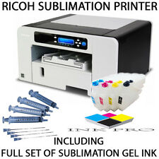RICOH SUBLIMATION PRINTER AND SUB INK AFICIO SG-3110DN SG3110 SG-3110A4 BUNDLE