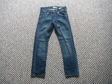 "And & Fit Sqin Jeans Waist 26"" Leg 24"" Faded Dark Blue Boys Jeans"