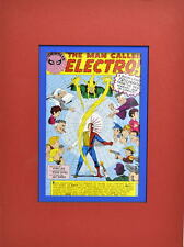 AMAZING SPIDER-MAN The MAN CALLED ELECTRO PRINT PROFESSIONALLY MATTED
