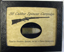 .56 Caliber Spencer Cartridge in Matted Display Case...Original Artifact