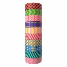 Colorful Washi Masking Tape(Set of 10 Rolls)-Wide Japanese Decorative Paper Tape