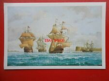 POSTCARD THE MARY ROSE & HENRY GRACE LEAVING PORTSMOUTH 1545