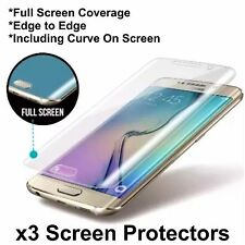 NEW UPDATED* Full Curve Samsung Galaxy S6 Edge TPU Screen Protector Film x3