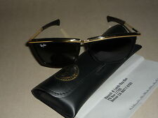 Near mint! Vintage Ray Ban USA B&L OLympian 5 1/4 Ebony /Gold  orig. case!
