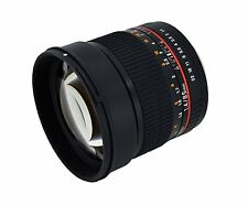 Rokinon 85mm F1.4 Aspherical Lens with Built-in AE Chip for Nikon FX