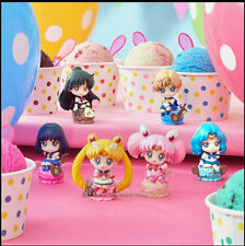 6p Sailor Moon Ice Cream Party Petit Chara Land Chibi Neptune Pluto Saturn Figur