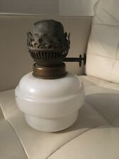VICTORIAN WHITE GLASS DROP IN / TABLE TOP OIL LAMP FONT, SCREW FIT. Hanging Lamp
