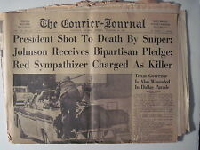 Louisville Courier Journal, 11-23-1963. President John F.  Kennedy Assasinated