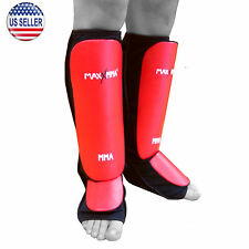 MaxxMMA Mixed Martial Arts Shin Guards - MMA Boxking Kickboxing Muay Thai, L/XL