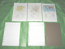 A5 ~ WOLRD MAPS Porcelanosa Planner ACCESSORY LOT Fill PAGE FINDER Filofax 126