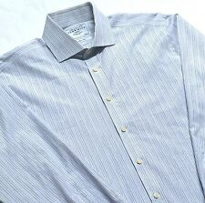 """Charles Tyrwhitt Mens Slim Fit French Cuff Button Front Shirt Size 16 1/2"""" / 34"""""""