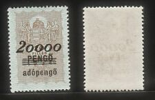 Hungary 1934 Old Revenue King's Crown & Angles (20000 Pengo) MNH