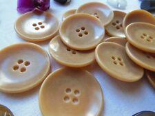 lot 6 gros boutons anciens en corozo diamètre: 3,1 cm ref 111