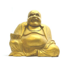 Small Gold Chinese Laughing Buddha, 12cm