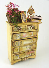 Dollhouse Miniature Laura Ramirez Artisan Antiqued Dresser, 1519