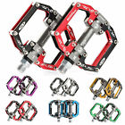RockBros Road Mountain Bike Platform Pedals Flat Aluminum Sealed Bearing 9/16