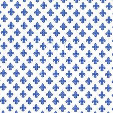 Michael Miller Fleur-de-lis BLUE 100%Cotton Fabric FQ FAT QUARTER CX6556-BLUE
