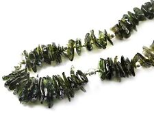 Moldavite necklace tumbled 50cm 19.68inch silver.925 83.29g OTHER719