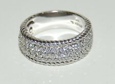 Sonia Bitton Sonia B 14k White Gold Ring W/Diamonds Ring 1.0 V S1 Cts G Size 9.5
