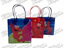 Sesame Street Elmo Party Favor Supplies Goody Loot Gift Bags [12ct]