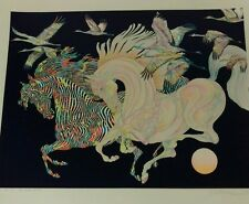 Guillaume Azoulay,  Le Vol Des Grues Limited Edition Serigraph signed art 29/50