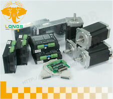 【German Ship】4 axis Nema 34 stepper motor 1600 oz.in  &Driver DM860A 7.8A CNCKit