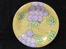 """NEW Tabletops Unlimited Fruita de Roma 10-1/2"""" Dinner Plate Grapes Handpainted"""