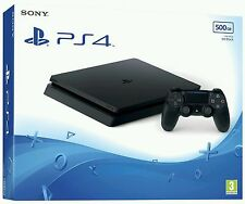 Sony PS4 PlayStation 4 - 500 GB Jet Black Console (Latest Model) (BRAND NEW)