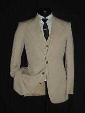 D-636 TIGER OF SWEDEN 3 PIECE Vintage men's suit coat jacket Vest pant 36 R