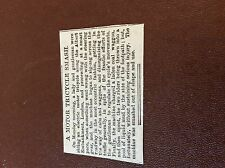 m7-4 ephemera 1889 article a motor tricycle accident london albert embankment