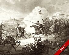 BATTLE OF KIRCHOLM PAINTING POLISH SWEDISH WAR ENGRAVING ART REAL CANVAS PRINT