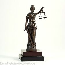 "LAWYERS & LEGAL - 13""H BLINDFOLDED LADY JUSTICE SCULPTURE - SCALES OF JUSTICE"