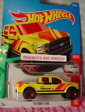 2017 i Hot Wheels '15 FORD F-150 #65✰Yellow truck;Red✰HW RESCUE✰Case C