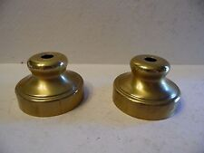 Pair of Bright Brass Finish Tin Lamp Spacer Riser Break Cap Project Piece - D