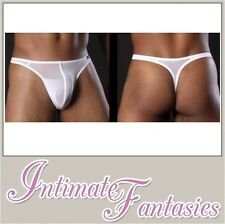 Mens White Sexy Thong Underwear Stripper Posing Pouch Brief Strip Size 30 32 34