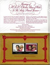 M1439dmsA5lc 1981 Royal Wedding Australia Stamp pack