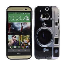 Schutzhülle f HTC One M8 Tasche Case Cover TPU Case Bumper Kamera Fotoapparat