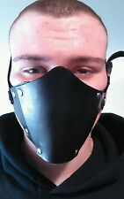 100% Leather, Motorcycle, Scooter, Biker, Punk Face Mask.