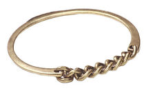 CHIC FEMININE BRASS BANGLE & CHAINLINK FRONT FEATURE ANCIENT TOUCH  (NS4)