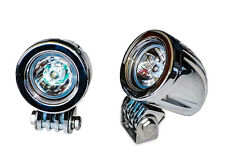 Chrome 20w LED lights spot motorcycle cruiser fog hid passing running white vn