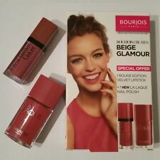BOURJOIS ROUGE EDITION VELVET LIPSTICK 07 AND LA LAQUE NAIL POLISH 07 KIT