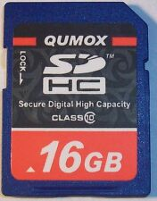 NEW !! 16GB SD HC SDHC Fast Class 10 Qumox High Speed Memory Card SDHC