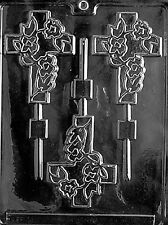 FANCY CROSS LOLLY  mold Chocolate Candy communion confirmation cupcake baptism