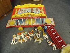 VTG FISHER PRICE CIRCUS TRAIN SET (not  COMPLETE): CLOWN RINGMASTER ANIMALS FP