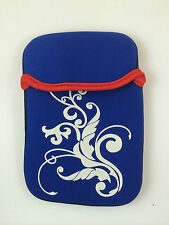 "FUNDA DE NEOPRENO CON DIBUJO DE 9"" PULGADAS PARA TABLET EBOOK COLOR AZUL"