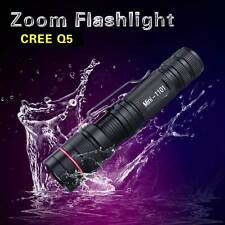 UltraFire Mini 3-MODE 8W 1000Lm CREE Q5 LED ZOOMABLE Zoom Flashlight Torch Light