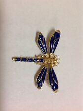 VINTAGE 60's TRIFARI Alfred  Philippe Blue Enamel DRAGONFLY Pin