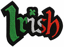IRISH WORD FLAG BIKER PATCH